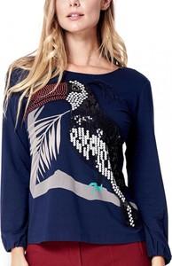 Granatowa bluzka POTIS & VERSO w stylu glamour
