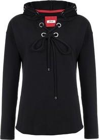 Czarna bluza Bien Fashion w sportowym stylu krótka