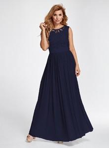 Sukienka Marselini rozkloszowana z szyfonu maxi