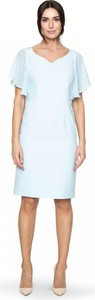 Niebieska sukienka POTIS & VERSO z krótkim rękawem midi