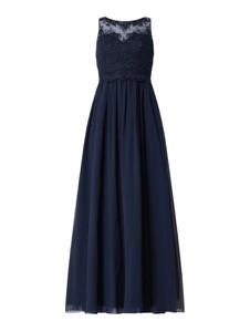 Granatowa sukienka Laona bez rękawów