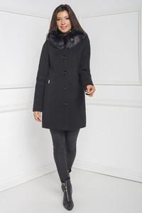 Czarny płaszcz Marcelini z wełny