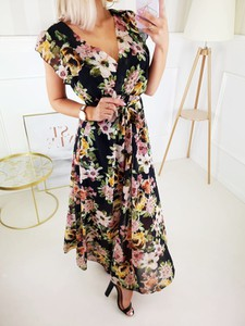 Sukienka Fashionyou z tkaniny maxi