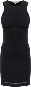 Czarna sukienka Patrizia Pepe mini z okrągłym dekoltem bez rękawów
