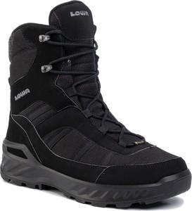 Czarne buty zimowe Lowa z goretexu