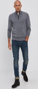 Sweter Calvin Klein z dzianiny ze stójką