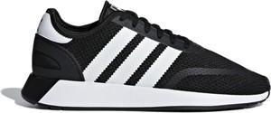 Czarne buty sportowe Adidas sznurowane z tkaniny