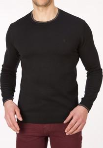 Czarny sweter Lanieri z bawełny