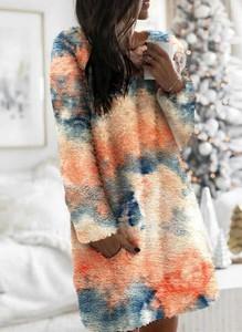 Sukienka Sandbella mini z długim rękawem z dresówki