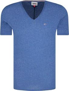 Niebieski t-shirt Tommy Jeans z krótkim rękawem