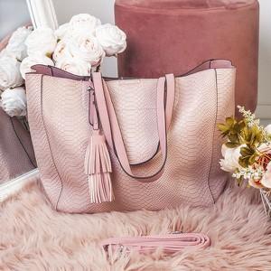 Różowa torebka Royalfashion.pl duża w stylu casual