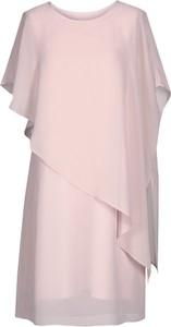 Sukienka Fokus dla puszystych z szyfonu midi