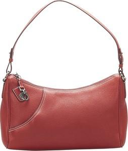 Czerwona torebka Salvatore Ferragamo Vintage średnia ze skóry