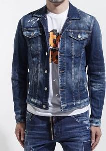 Niebieska kurtka Dsquared2 z jeansu