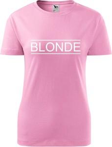 Różowy t-shirt TopKoszulki.pl w sportowym stylu z bawełny