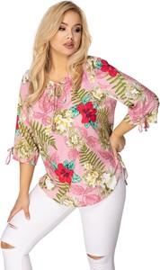 Bluzka Ptakmoda.com w stylu casual z okrągłym dekoltem