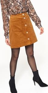 Żółta spódnica Top Secret mini w stylu casual