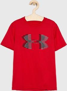 Czerwona koszulka dziecięca Under Armour