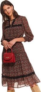 Sukienka Top Secret w stylu casual ze skóry