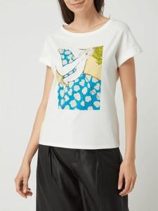 T-shirt comma, w młodzieżowym stylu z nadrukiem z okrągłym dekoltem