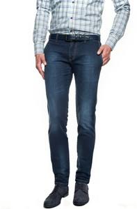 Niebieskie spodnie recman bez wzorów