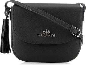 Czarna torebka Wittchen ze skóry matowa na ramię