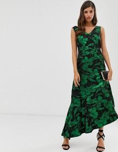 Zielona sukienka Closet maxi z dekoltem w kształcie litery v