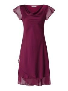 Sukienka Christian Berg Cocktail z szyfonu z krótkim rękawem