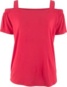 Czerwony t-shirt bonprix bpc bonprix collection z krótkim rękawem