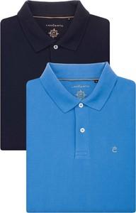 Niebieski t-shirt LANCERTO