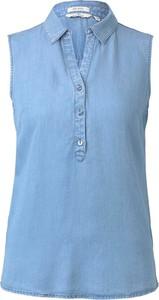 Niebieska bluzka Tom Tailor bez rękawów