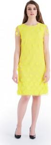 Żółta sukienka POTIS & VERSO z żakardu