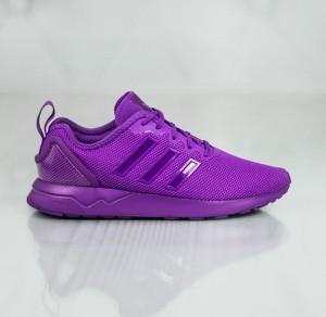 Fioletowe buty sportowe dziecięce Adidas sznurowane