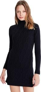 Czarna sukienka Jimmy Sanders z długim rękawem w stylu casual