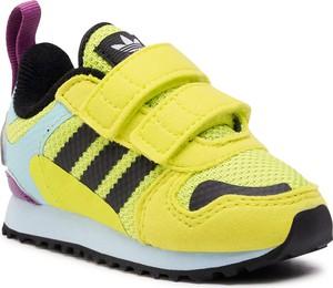 Żółte buty sportowe dziecięce Adidas dla chłopców