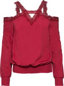 Czerwona bluzka bonprix BODYFLIRT boutique