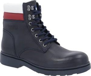 Buty zimowe Tommy Jeans w stylu casual sznurowane