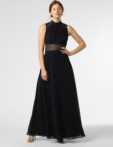 Niebieska sukienka VM bez rękawów z szyfonu maxi