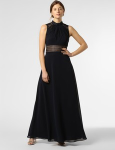 Niebieska sukienka VM rozkloszowana maxi bez rękawów