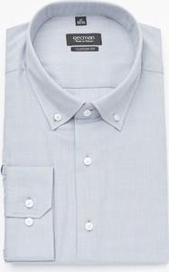 Niebieska koszula Recman z długim rękawem