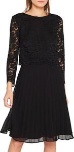 Czarna sukienka Esprit z długim rękawem