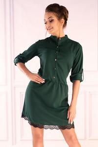 Zielona sukienka MERRIBEL koszulowa