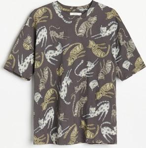 Bluzka Reserved z krótkim rękawem z bawełny