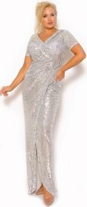 Sukienka Sukienki M&M maxi wyszczuplająca z dekoltem w kształcie litery v