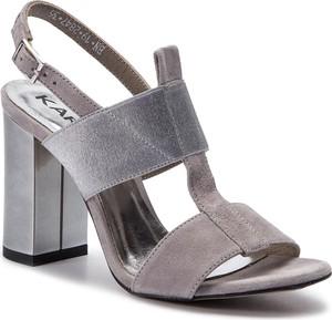 Sandały Karino na obcasie z zamszu w stylu casual