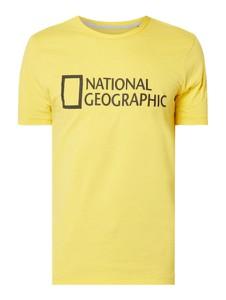 Żółty t-shirt National Geographic z krótkim rękawem