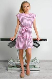 Sukienka Olika z krótkim rękawem mini w stylu casual