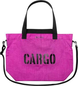 Fioletowa torebka CARGO by OWEE na ramię z nadrukiem duża