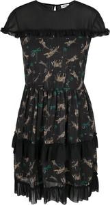 Czarna sukienka Liu-Jo z krótkim rękawem z okrągłym dekoltem