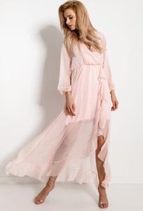 Sukienka Fobya z szyfonu z dekoltem w kształcie litery v